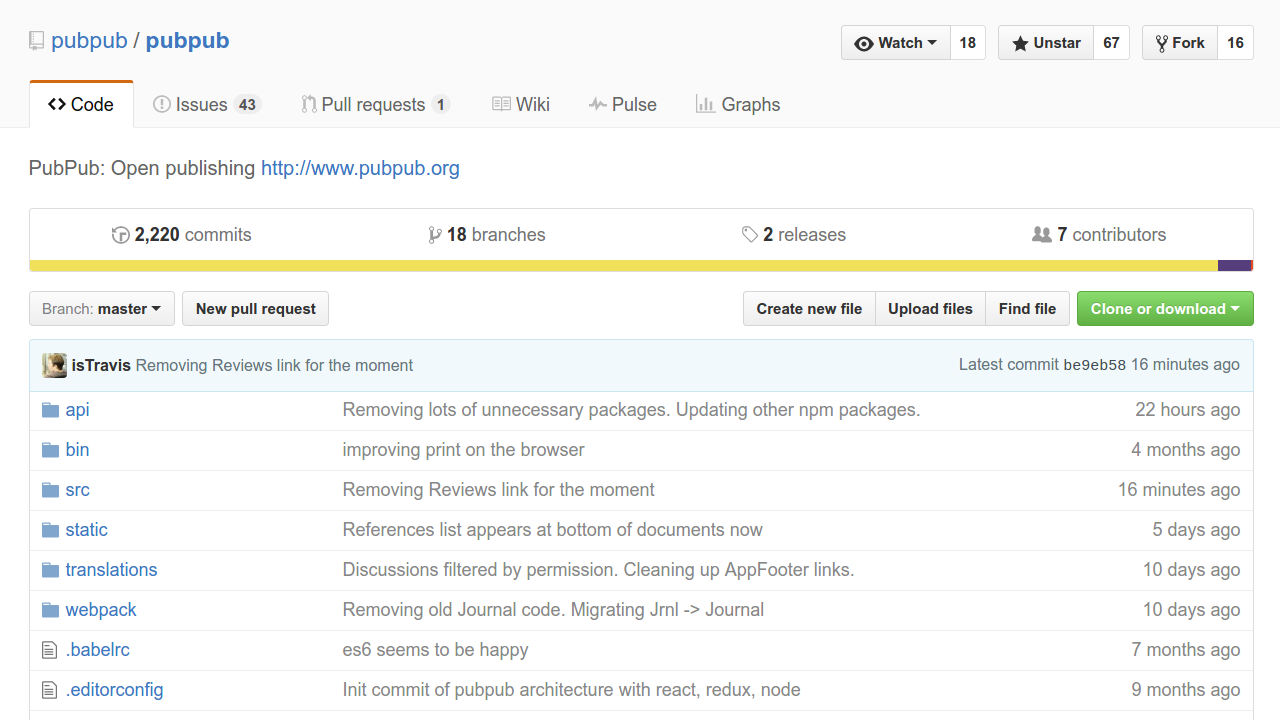 PubPub on GitHub