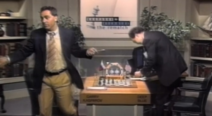 from the ESPN documentary, The Man vs The Machine: the moment Garry Kasparov shrugged his shoulders and walked away